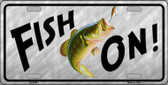 Fish On Wholesale Metal Novelty License Plate