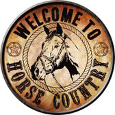 Horse Country Wholesale Novelty Metal Circular Sign