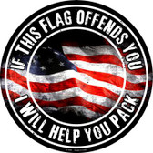This Flag Offends You Wholesale Novelty Metal Circular Sign