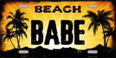 Beach Babe Wholesale Metal Novelty License Plate