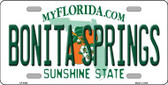 Bonita Springs Florida Wholesale Metal Novelty License Plate