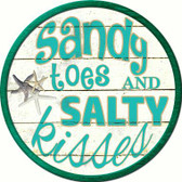Sandy Toes Wholesale Novelty Metal Circular Sign