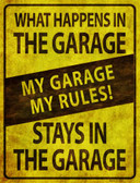 My Garage My Rules Wholesale Metal Novelty Parking Sign