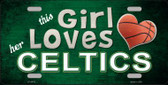 This Girl Loves Her Celtics Novelty Wholesale Metal License Plate