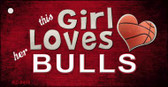 This Girl Loves Her Bulls Wholesale Novelty Key Chain