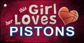 This Girl Loves Her Pistons Wholesale Novelty Key Chain