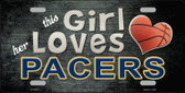 This Girl Loves Her Pacers Novelty Wholesale Metal License Plate