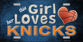 This Girl Loves Her Knicks Novelty Wholesale Metal License Plate
