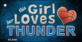 This Girl Loves Her Thunder Wholesale Novelty Key Chain