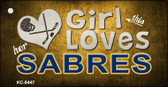 This Girl Loves Her Sabres Wholesale Novelty Key Chain