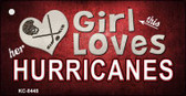 This Girl Loves Her Hurricanes Wholesale Novelty Key Chain