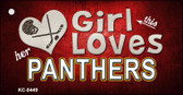 This Girl Loves Her Panthers Wholesale Novelty Key Chain