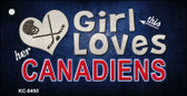 This Girl Loves Her Canadiens Wholesale Novelty Key Chain