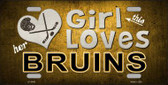 This Girl Loves Her Bruins Novelty Wholesale Metal License Plate