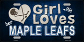 This Girl Loves Her Maple Leafs Novelty Wholesale Metal License Plate