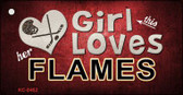 This Girl Loves Her Flames Wholesale Novelty Key Chain