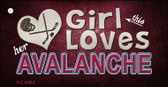 This Girl Loves Her Avalanche Wholesale Novelty Key Chain
