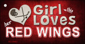 This Girl Loves Her Red Wings Wholesale Novelty Key Chain