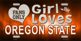 This Girl Loves Oregon State Novelty Wholesale Metal License Plate LP-8499