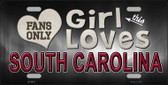 This Girl Loves South Carolina Novelty Wholesale Metal License Plate