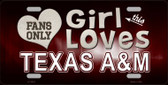 This Girl Loves Texas A&M Novelty Wholesale Metal License Plate