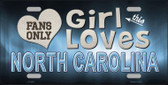 This Girl Loves North Carolina Novelty Wholesale Metal License Plate