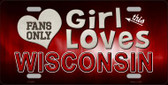 This Girl Loves Wisconsin Novelty Wholesale Metal License Plate