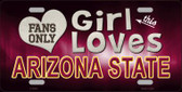 This Girl Loves Arizona State Novelty Wholesale Metal License Plate