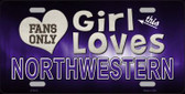 This Girl Loves Northwestern Novelty Wholesale Metal License Plate