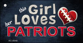This Girl Loves Her Patriots Wholesale Novelty Key Chain