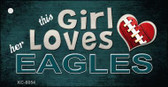 This Girl Loves Her Eagles Wholesale Novelty Key Chain