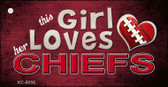 This Girl Loves Her Chiefs Wholesale Novelty Key Chain
