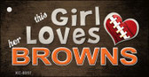 This Girl Loves Her Browns Wholesale Novelty Key Chain