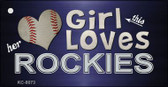 This Girl Loves Her Rockies Wholesale Novelty Key Chain