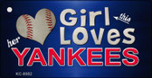 This Girl Loves Her Yankees Wholesale Novelty Key Chain