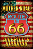 Route 66 Neon Wholesale Metal Novelty Large Parking Sign