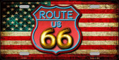 American Route 66 Neon Wholesale Metal Novelty License Plate