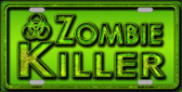 Zombie Killer Wholesale Metal Novelty License Plate