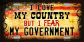 I Love My Country Wholesale Metal Novelty License Plate