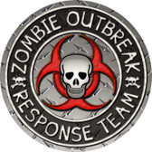 Zombie Outbreak Wholesale Novelty Metal Circular Sign