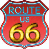Route 66 Neon Wholesale Metal Novelty Highway Shield
