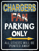 Chargers Wholesale Metal Novelty Parking Sign