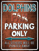 Dolphins Wholesale Metal Novelty Parking Sign