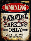 Vampire Parking Only Wholesale Metal Novelty Parking Sign