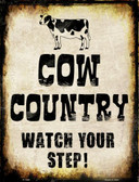 Cow Country Wholesale Metal Novelty Parking Sign