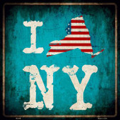 I Love New York Wholesale Novelty Metal Square Sign