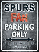 Spurs Wholesale Metal Novelty Parking Sign