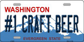 No 1 Craft Beer Washington Background Wholesale Metal Novelty License Plate