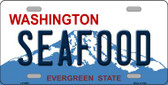 Seafood Washington Background Wholesale Metal Novelty License Plate
