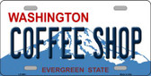 Coffee Shop Washington Background Wholesale Metal Novelty License Plate